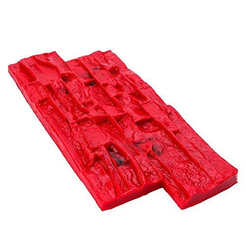 Goodvk Gartenpflasterform 40x20 cm Polyurethanformen für Beton Gartenhaus Dekor Textur Wandböden Formen Zement Gips Briefmarken Modellformen Schöne Dekoration (Farbe : Red, Size : One Size)