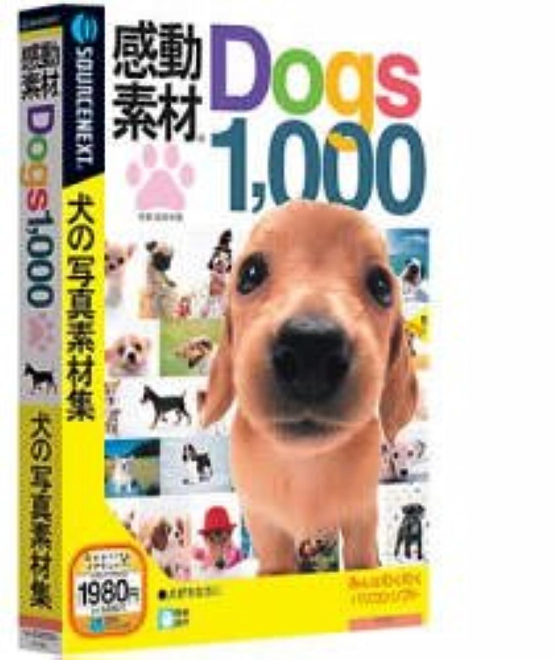 きらめくリラックスした敵感動素材 Dogs1000