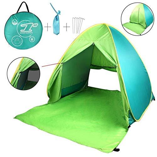 FBSPORT Beach Tent Pop Up Sun Shelter, automatische luifel schaduw draagbare UV-bescherming met draagtas voor buiten, kinderen schaduw Tent voor strand, tuin, camping, vissen, picknick