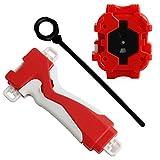 Yeleo Trosetry Gyro, 4D Speeding Launcher Velocidad de giro Top Launcher, Juguete para niños( Rojo)