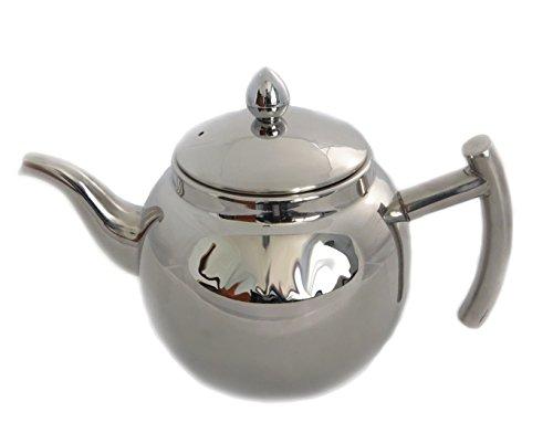 rukauf Design Edelstahl Teekanne oder Kaffeekanne mit Sieb und Deckel 1 Liter Чайник