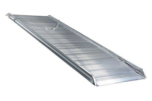 "Vestil AWR-38-10A Aluminum Walk Ramp Overlap Style, 2200 lb, 120"" Length, 38"" Width, 4.75"" Height"