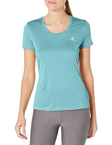 Salomon Agile T-Shirt Respirant Trail Running Randonnée, Femme, Bleu (Turquoise/Meadowbrook), S