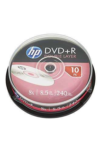 Hp - Dvd+r doble capa 8x tarrina 10 uds