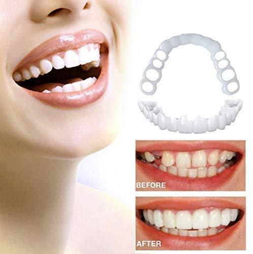 ZYXBJ Presa per il Massimo Comfort Della protesi per impiallacciatura di Silicone per denti cosmetici Che rende i denti Bianchi belli e puliti