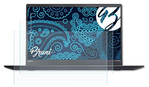 Bruni Schutzfolie kompatibel mit Lenovo ThinkPad X1 Carbon 5th Gen. 2017 Folie, glasklare Bildschirmschutzfolie (2X)