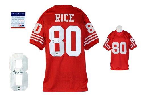 Jerry Rice Signed Custom Jersey - PSA/DNA - Autographed - Pro Style - Red