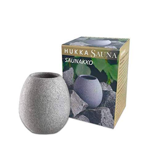 SudoreWell Saunakko Dufttasse - Sauna Aromaschale aus Speckstein/Das Original aus Finnland von Hukka Sauna