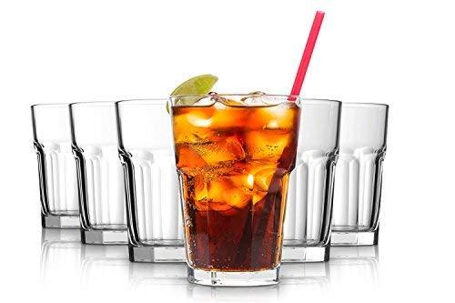 Pasabahce Casablanca verres à eau - 365 ml - Ensemble de 6 - Ensemble de verres de haute qualité - lave-vaisselle - verres de cristal