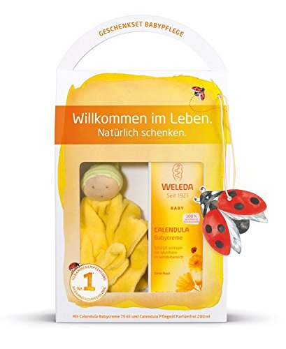 Weleda Babypflege Set - Babycreme+Pflegeöl+Schmuse-Puppe Limitierte Edition