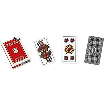 MASENGHINI Carte Bergamasche 100/% Plastica 52x93 astuccio Rosso
