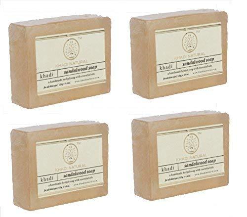 KHADI NATURAL Herbal Sandalwood Soap, 125 g (Pack of 4)