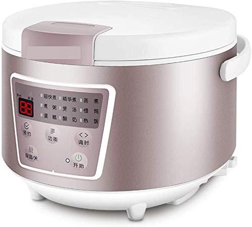 L&WB Smart Rice Cooker, Cuisinière Rice Cooker Ménage 3 Personnes-4 Personnes-6 Personnes Multifonction Rice Cooker Électrique Une 4L Mijoteuse-Blanc