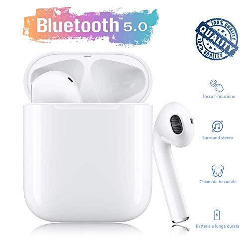 Sying Auricolari Bluetooth 5.0 Auricolari Senza Fili, IPX5 Impermeabile 24H Playtime Vero Wireless Cuffie Sport,riduzione del rumore stereo 3D HD, per cuffie Apple AirPods Pro/Android/iPhone/Samsung