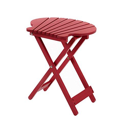 Table pliante extérieure en bois de Tableau/balcon/bureau portatif/table carrée paresseuse/table basse (Color : Red)