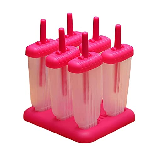 GYW-YW Helado Moldes de paletas Materiales de plástico Material de plástico Herramientas de cocción en forma de rectángulo Reutilizable Reutilizable helado congelado Moldes para hornear Tinas de helad