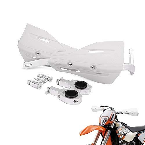 7/8' and 1 1/8' Aluminum Motocross Handguards Universal Hand Guards For Honda Yamaha Kawasaki Suzuki K.T.M Dirt Bike Motorcycle MX Supermoto Racing ATV Quad KAYO (White)