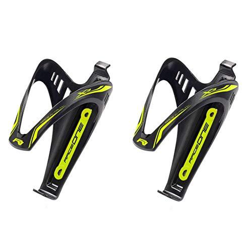 Coppia Portaborraccia X3 Yellow Fluo Porta Borraccia per Bicicletta Ideale Bici Race/MTB/Gravel/Trekking Bike. Finitura Opaca. Colore Nero/Giallo Fluo. 100% Made in Italy (RO_2X3_YFL)