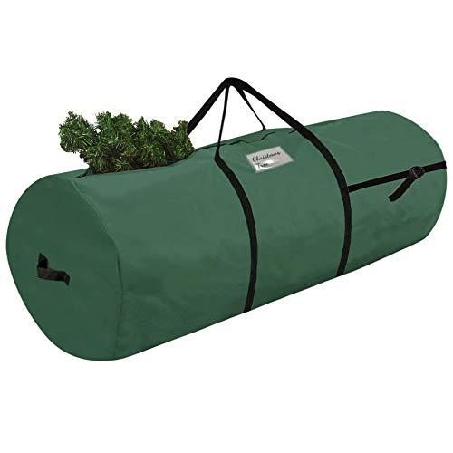 Weihnachtsbaum Aufbewahrungstasche 80 - 120 cm Weihnachtsbaumtasche Transporthülle Weihnachtsbäume Tannenbaum Aufbewahrung Tasche - Zylinderform Grün [125]