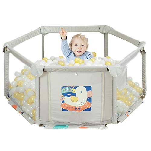 Find Bargain Quality Hexagonal Portable Baby Indoor Home Play Fence, Oxford Cloth Toddler Crawling M...