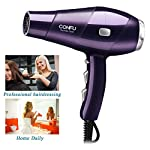 Beauty Shopping CONFU 1875W Compact Hair Dryer, Salon Ionic Blow Dryer For Fast Drying, With Hair
