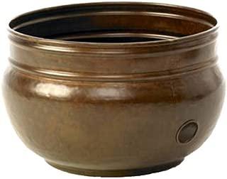 Liberty Garden Products QG01 Liberty 1901 Rustic Garden Hose Pot, Holds 100-Feet of 5/8-Inch, Bronze