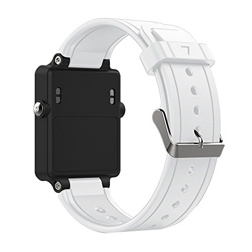 ZSZCXD Band for Garmin Vivoactive, Soft Silicone Wristband Replacement Watch Band for Garmin Vivoactive Sports GPS Smart Watch (White)