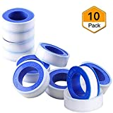 Beymill Duct Tape Teflon Tape,10 Pack Plumbers Tape Thread Seal...