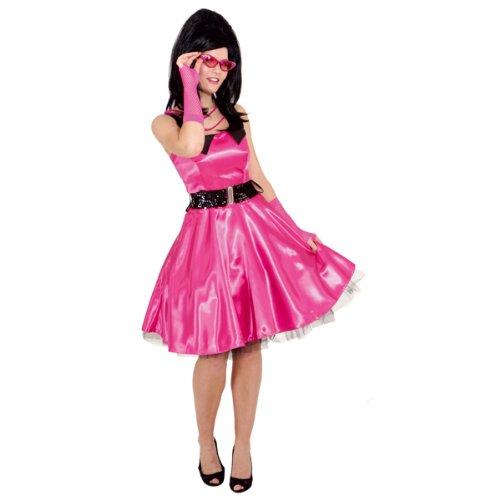 Sale Faschingskostüm Damen Sixties Kleid pink Gr. 42