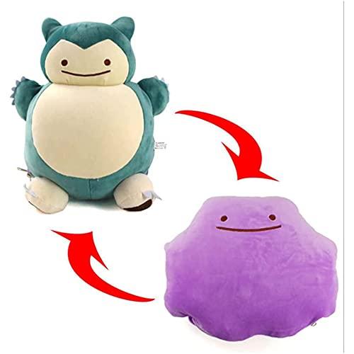 Pokemón Reversible Peluche - Transformación de Ditto - Super Suave - Pikachu - Snorlax - Varios Modelos Colores - Juguetes muñecos - Feliz niños tiktok (Snorlax)