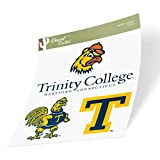 Trinity College Bantams NCAA Sticker Vinyl Decal Laptop Water Bottle Car Scrapbook (Type 2 Sheet)