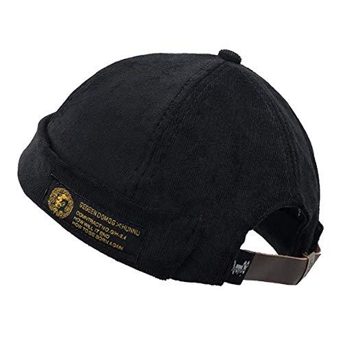 Clape Casquette de Montre en Coton décontractée Bonnet de Travail en Commando Bonnet en Velours côtelé Docker Chapeau en Duvet de Léon roulé