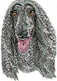 VirVenture 1 3/4' x 2 5/8' Afghan Hound Face Portrait Dog Breed Embroidered Patch Great for Hats, Backpacks, and Jackets.