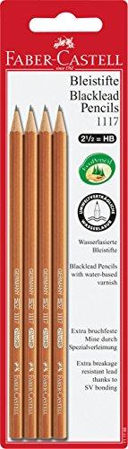 Faber-Castell 111798 - Bleistift 1117, 4 Stück, HB