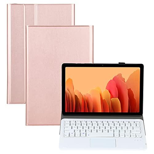 YEYOUCAI Accesorios para tabletas A500-A Teclado de Bluetooth Desmontable Ultrathin Horizontal Flip Funda de Cuero con touchpad y Soporte para Samsung Galaxy Tab A7 10.4 T500 / T505