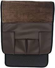 Wanty Velvet Sofa Couch Chair Armrest Soft Caddy Organizer Holder for Remote Control, Cell Phone, Book, Pencil (Brown)