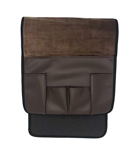 Vimmor Samt Rutschfeste Silicne Sofa Couch Stuhl Armlehne Soft Caddy Organizer Halter für Fernbedienung, Handys, Bücher, Zeitschriften und Bleistift braun
