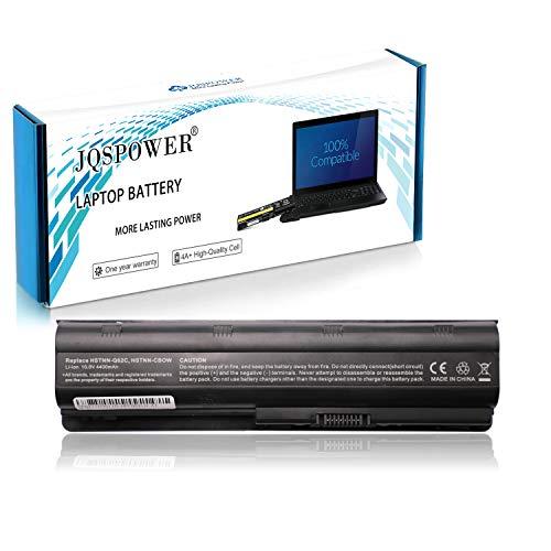 Batería para HP MU06 593553-001 593554-001 MU09 HSTNN-Q62C HSTNN-CBOW HP 250 255 2000 635 650 655 Pavilion G4 G6 G62 G7 dv6 Compaq Presario CQ42 CQ56 CQ62 Ordenador [6 Celdas 4400mAh 10.8V Negro]