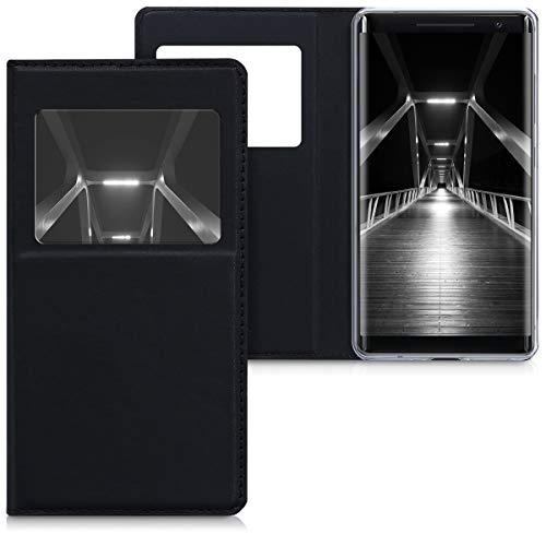 kwmobile Nokia 8 Sirocco Cover - Custodia magnetica apertura a libro con finestra pelle sintetica per Nokia 8 Sirocco