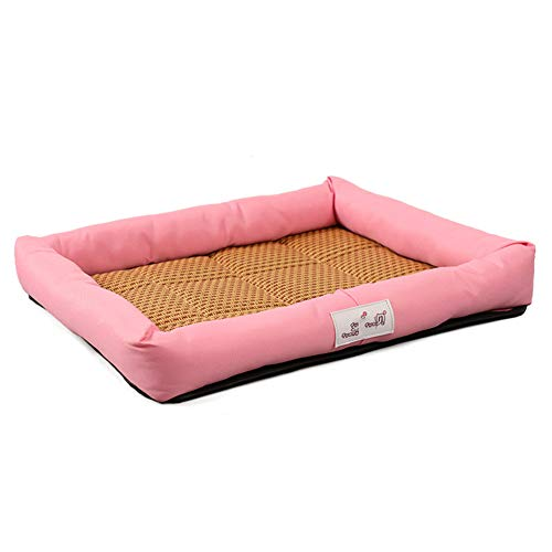 Summer pet bed pet mat Summer Cats and Dogs Kennel Bed Pad pet ice silk pad cool pad pet supplies,The best choice for all kinds of pets in summer,Powder,XL