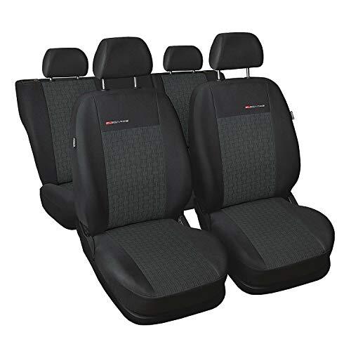 GSC Sitzbezüge maßgefertigt, kompatibel mit Seat Seat Alhambra II + Kindersitze 7 Sitzer 10-