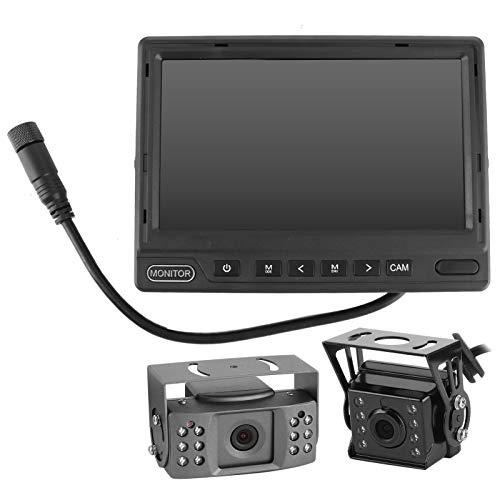 Cámara de marcha atrás, cámara con monitor de visión trasera Ahorro de energía con 2 funciones de derivación y características de bajo consumo de energía para la cámara de marcha atrás y la