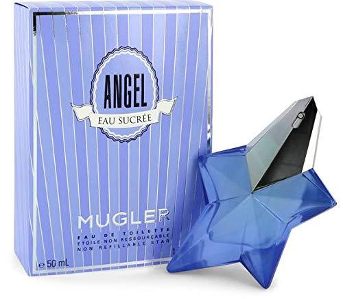 6F Nuevo 100% auténtico MUGLER Angel Sucree EDT de mujer 50 ml Hecho en Francia + 2 muestras de perfume de nicho gratis