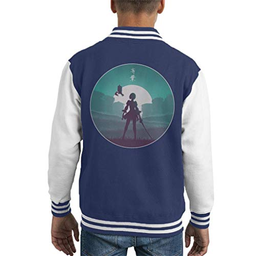 Cloud City 7 Battle Android Nier Automata Kid's Varsity Jacket