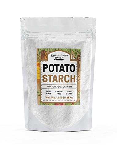 Potato Starch, 1.5 lbs. by Unpretentious Baker, Pure & Gluten-Free Alternative Thickener for Soups, Stews, Sauces & Gravies, Vegan & Paleo Friendly, Resealable Bag