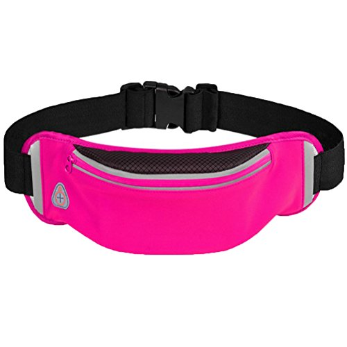 YAOBAO Sac de Sport de Voyage avec Sac de Taille, imperméable avec Ceinture Ajustable pour randonnées de Vacances d'entraînement, Homme Femme Portant (Taille Unique / 1 pcs),Pink