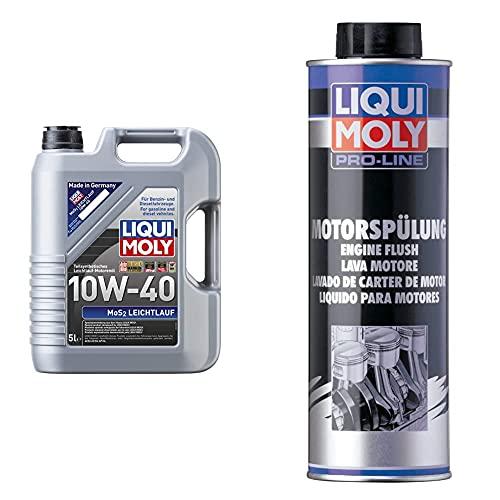 Liqui Moly 2184 Aceite De Motor, 5 L + 2427 Motor Limpiar, Lavado De Cárter De Motor, 500 Ml,
