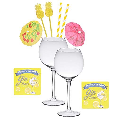 Table Passion - Coffret special gin tonic (2 verres 50 cl et 8 accessoires)