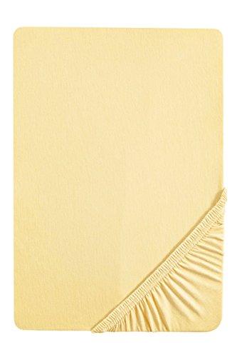 Sábana bajera amarilla ajustable elástica, 97% algodón y 3% elastano