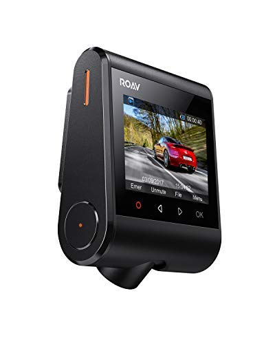 Roav DashCam S1, by Anker, Dash Cam, Dashboard Camera, Full HD 1080p Resolution, 60 fps, NightHawk Vision, Sony Starvis Sensor, Built-In GPS, Wi-Fi, Wide-Angle Lens, 2-Port Charger, 32GB microSD Card